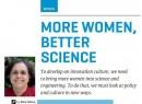 More Women, Better Science.